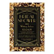 1920s Great Gatsby Art Deco Wedding Bridal Shower Invitation