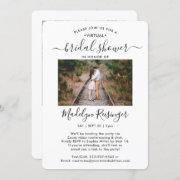 2 Photo Script Virtual Long Distance Bridal Shower Invitation