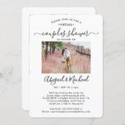 5 Photo Virtual Couples Bridal Shower By Mail Invitation