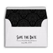 A6 4x6 Black White Save The Date Envelopes