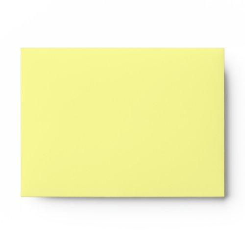 A6 Yellow Polka Dot Flower Envelopes
