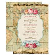 Adventure Awaits Vintage World Map Roses