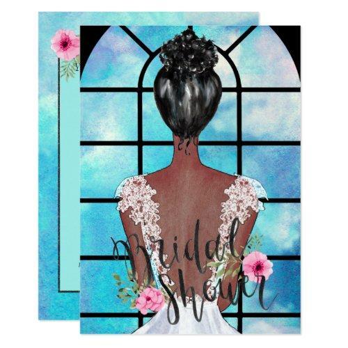 African American Bridal Shower Invitation