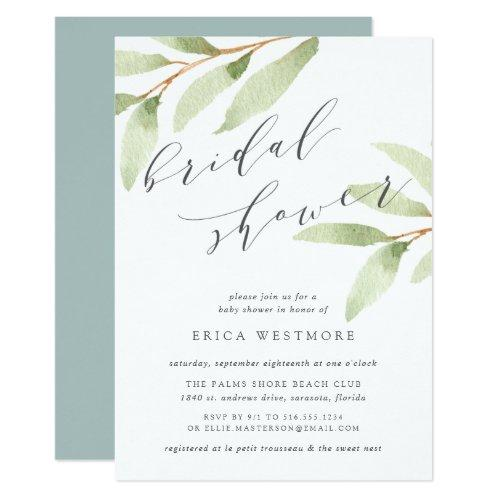 Airy Botanical Bridal Shower Invitation