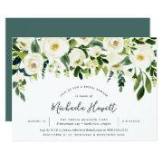 Alabaster Floral Bridal Shower Invitations