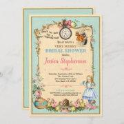 Alice In Wonderland Bridal Shower Invitaion Invitation