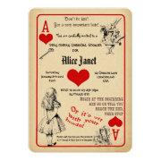 Alice In Wonderland Bridal Shower Invitation