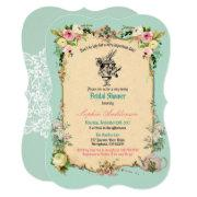 Alice In Wonderland Bridal Shower  Teal