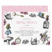 Alice In Wonderland Pink Bridal Brunch Invitation