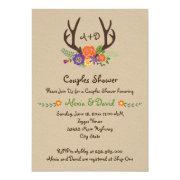 Antlers & Flowers Monogram Wedding Couples Shower