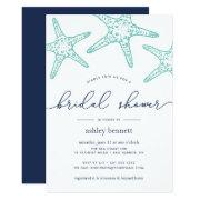 Aqua & Navy Starfish Bridal Shower