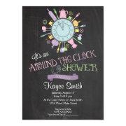 Around The Clock Bridal Shower Invitation