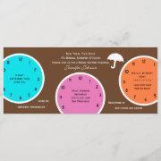Around The Clock Bridal Shower Invitation Brown