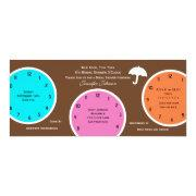 Around The Clock Bridal Shower Invitations Brown