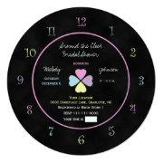 Around The Clock Bridal Shower Invitation Chalk