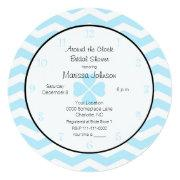Around The Clock Bridal Shower Invitation In Blue