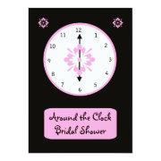 Around The Clock Bridal Shower Invitation -- Pink