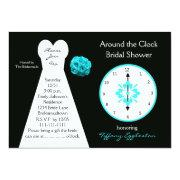 Around The Clock Bridal Shower Invitations