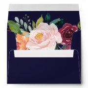 Autumn Floral Wedding  Envelope