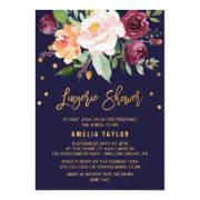 Autumn Floral With Wreath Backing Lingerie Shower Invitation