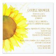 Autumn Sunflower Wedding Couple Shower