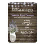 Bridal's Breath And Lavender Rustic Bridal Shower