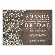 Bridal's Breath Barn Wood Bridal Shower Invitations