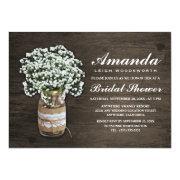 Bridal's Breath Burlap Bridal Shower Invitations