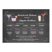 Bachelorette Bridal Shower Chalk Purple Itinerary