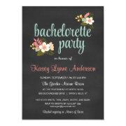 Bachelorette Party Floral Chalkboard