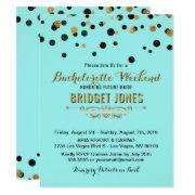 Bachelorette Weekend Itinerary Gold Tiffany Blue