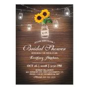Backyard Rustic Sunflower Jar Lights Bridal Shower