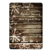 Barn Wood Snowflakes Rustic Winter Bridal Shower