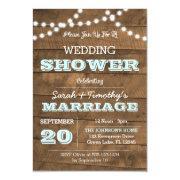 Barnwood Lights Aqua Wedding Party Sm