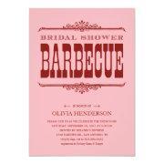 BBQ Bridal Shower Invitations