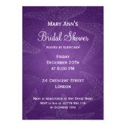 Beach Bridal Shower Starfish Purple