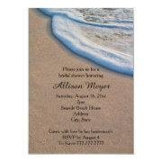 Beach Sand And Sea Foam Bridal Shower