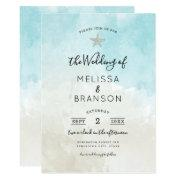 Beach Starfish Watercolor Wedding Invitation