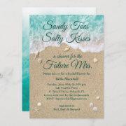 Beach Waves Bridal Shower Invitation