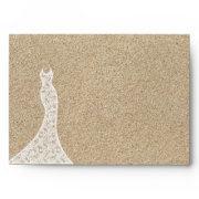 Beautiful Beach Bridal Shower Envelope
