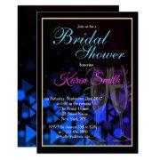Beautiful & Elegant Blue Bridal Shower Invite