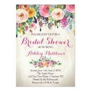 Beautiful Floral Bridal Shower Invitation, Bridal