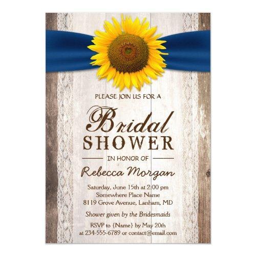 Beautiful Rustic Sunflower Ribbon Bridal Shower
