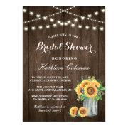 Beautiful Sunflowers Rustic Wood Bridal Shower