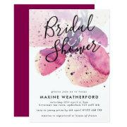 Berry Watercolor Orchid Bridal Shower