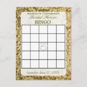 Bingo Invitations - Gold Sequins