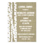 Birch Trees And Burlap Bridal Shower