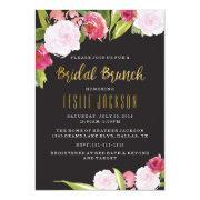 Black And Gold Bridal Brunch Shower