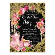 Black And Gold Glitter Rose Tea Party