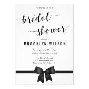 Black And White Bridal Shower  Bow